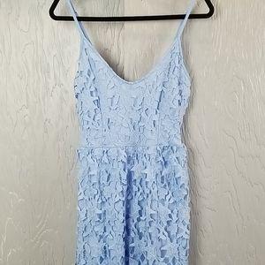 NWOT.. Light Blue lace style midi dress
